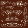 Henna Paisley Vines and Flowers Mehndi Tattoo Doodles - Stock Vector