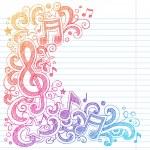 vecteur de g clef notes musique — Vecteur