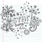 Doodles esboçados desenhados à mão — Vetorial Stock