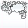 Cloud Frame Border Back to School Sketchy Notebook Doodles — Stock Vector #15857309
