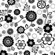 Seamless Repeat Pattern of Cute Flowers — Stock Vector