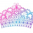 Hand-Drawn Sketchy Royalty Princess Crown — Stock Vector