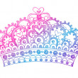 Hand-Drawn Sketchy Royalty Princess Crown — Stock vektor
