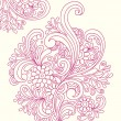 Hand-Drawn Abstract Henna Paisley Doodles - Image vectorielle