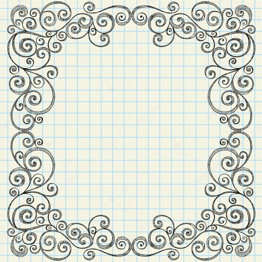 粗略笔记本涂鸦帧 — 图库矢量图片 #16206513