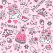 Princess TiarPattern Sketchy Notebook Doodles Vector Set — Stock Vector #18485827