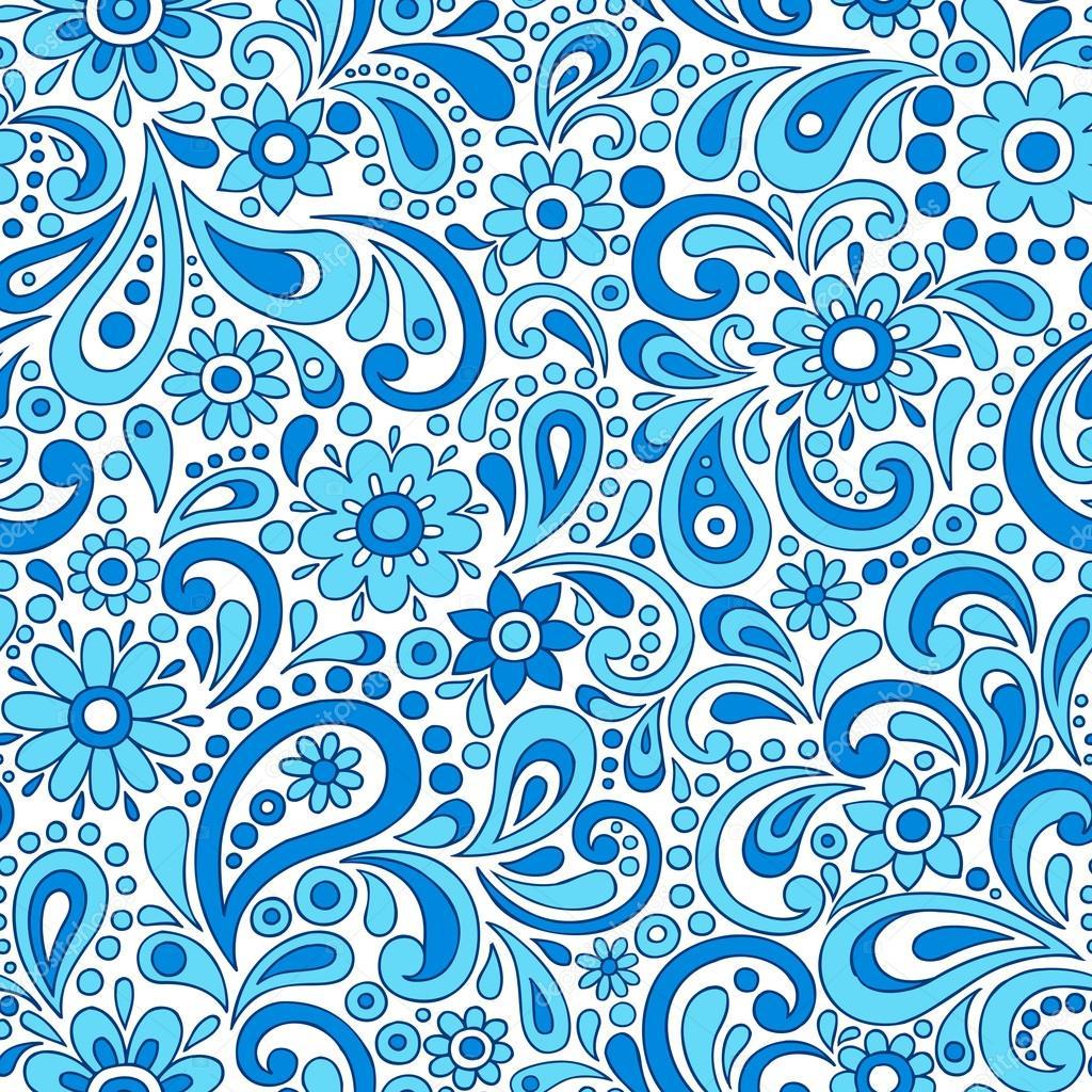 Рисунок с узорами цветными