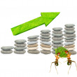 Ants Finance Statistics — Stock Photo