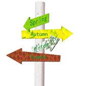 Znaki i sezonu — Zdjęcie stockowe