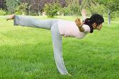 Mulher de equilíbrio — Foto Stock
