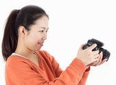 Girl watching the camera — Stock Photo