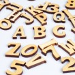 Wooden abc letters — Stock Photo #29271415