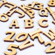 Wooden abc letters — Stock Photo