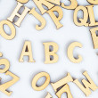 Stock Photo: Wooden abc