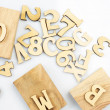 Wood letters — Stock Photo