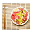 Chopsticks and Chinese dishes — Stock Photo