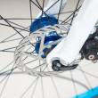Bicycle disc brake tablets — Stock Photo