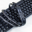 Stockfoto: Keyboard and chains