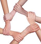 Hand Team — Stock Photo