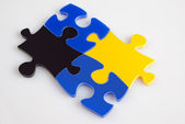 Puzzle picture background — Stock Photo