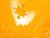 Light irradiation Jigsaw — Stock Photo