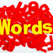 Words close-up — Stock Photo #36144927