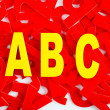 ABC letter closeup — Stockfoto