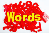 Words close-up — Stock Photo