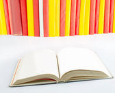 Open book close-up — Stock Photo