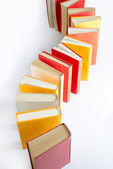 Standing book queue — Stock Photo