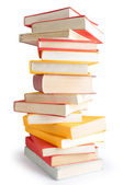 Books piled up — Stock Photo