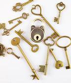 Anahtar ve kilit — Stok fotoğraf