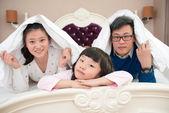 Familj på tre — Stockfoto