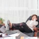 Relax female boss — Stock Photo #45084155