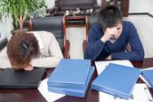 Business people sleep pressure — 图库照片