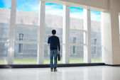 Man standing in the hall — Stock Photo
