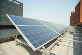 Rooftop solar power station — Stock Photo