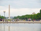 The Washington Monument as seen from the US Capital Building — Stock Photo