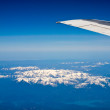 View of a Snow-capped Mountain Landscape from an Airplane — Stock Photo #21655267
