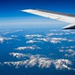 View of a Snow-capped Mountain Landscape from an Airplane — Stock Photo #21655337