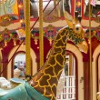 Indoor Carousel at the Seaside Mall in Oregon - Stok fotoğraf