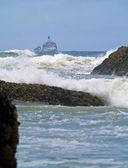 """Oregon kıyılarında deniz feneri """"korkunç tilly takma"""" — Stok fotoğraf"""