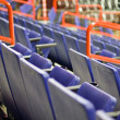 Blue Folding Seats at an Indoor Sports Arena — Stock Photo