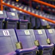 Blue Folding Seats at an Indoor Sports Arena — Stock Photo #26157135