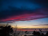Colorful Sunset at Arcadia Beach — Stock Photo