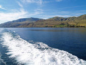 Wake in the Water on Lake Chelan Washington USA — Stock Photo