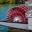 Red Riverboat Paddle Wheel — Photo #29345751