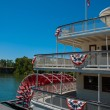 Red Riverboat Paddle Wheel — Stock Photo