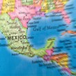 Global Studies A Colorful Closeup of Mexico and Central America — Stock Photo