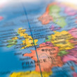 Global Studies A Colorful Closeup of Europe and London — Foto de Stock